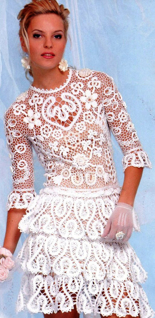 Вязание свадебного платья