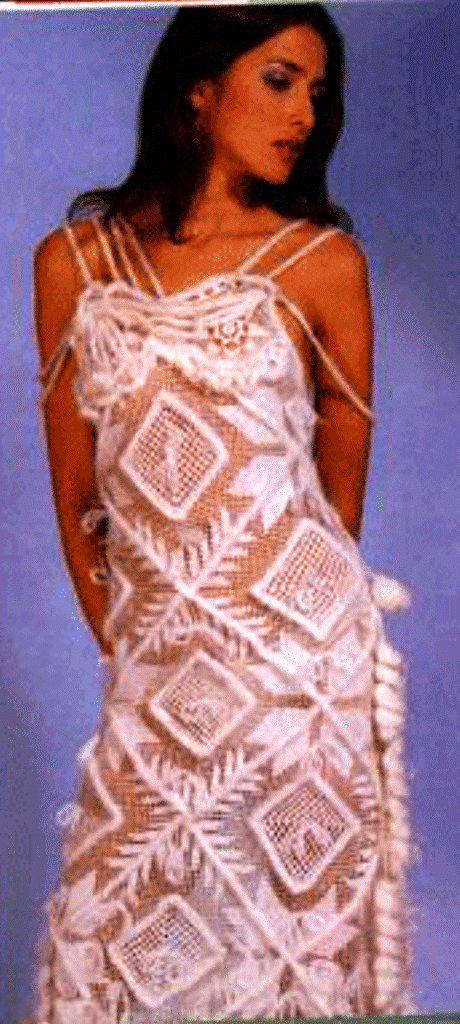 свадебные сарафаны вязанные схемы