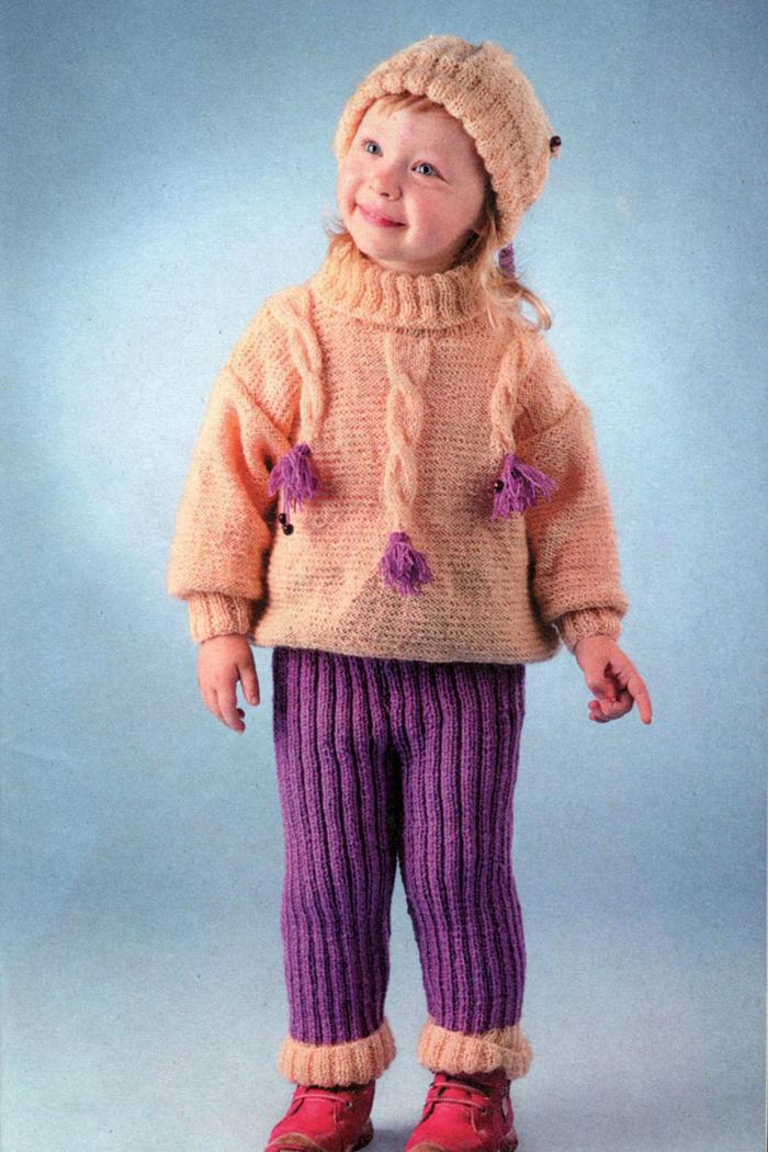 Схема вязания детских брюк