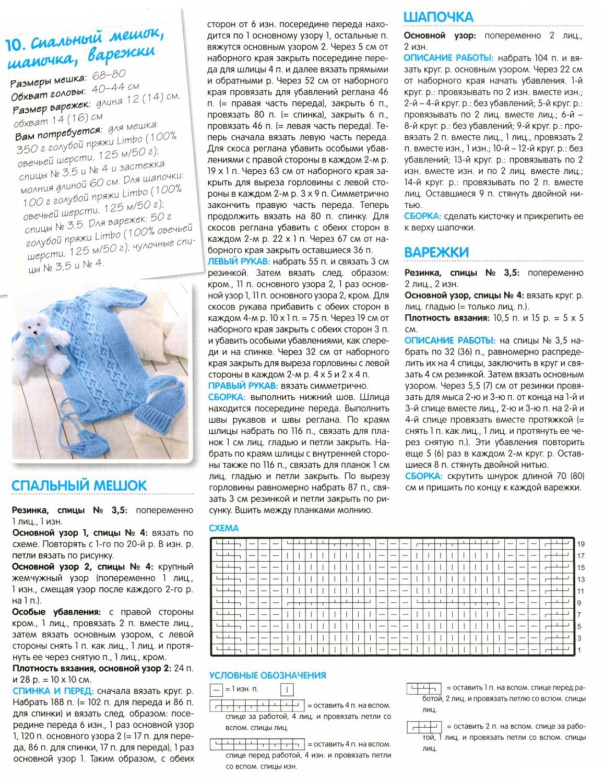 Вязание спицами комплекта для новорожденного с описанием и схемами 3